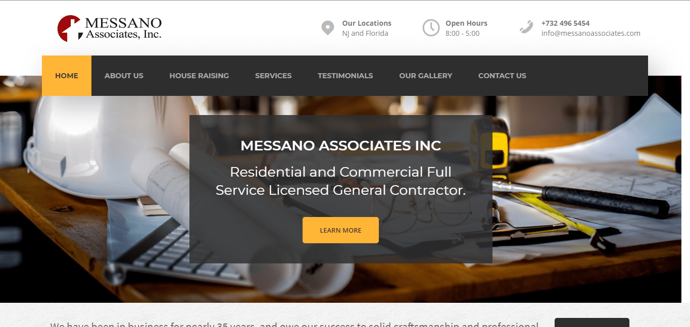 Messano homepage image