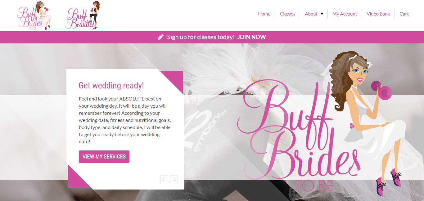 The Buff Bride homepage image